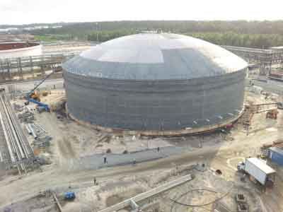 Product storage tanks...